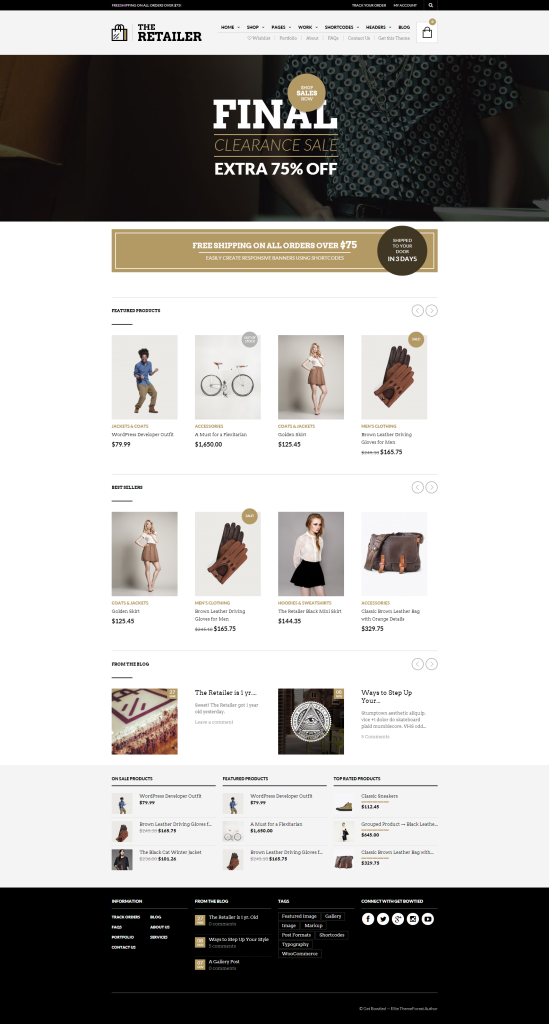 The Retailer   Design Driven Shop Theme for WordPress and WooCommerce