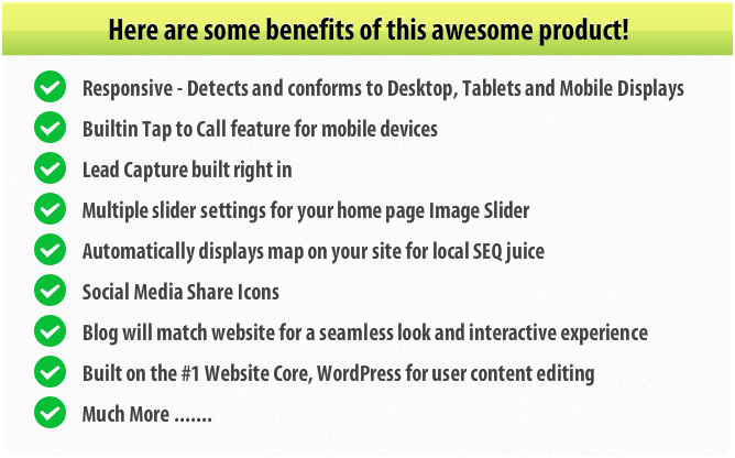 Mobile Website Combo Features