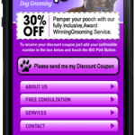 dog-groomers-mobile site