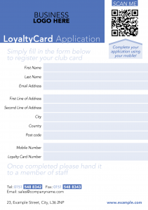 Loyalty Flyer Form Template